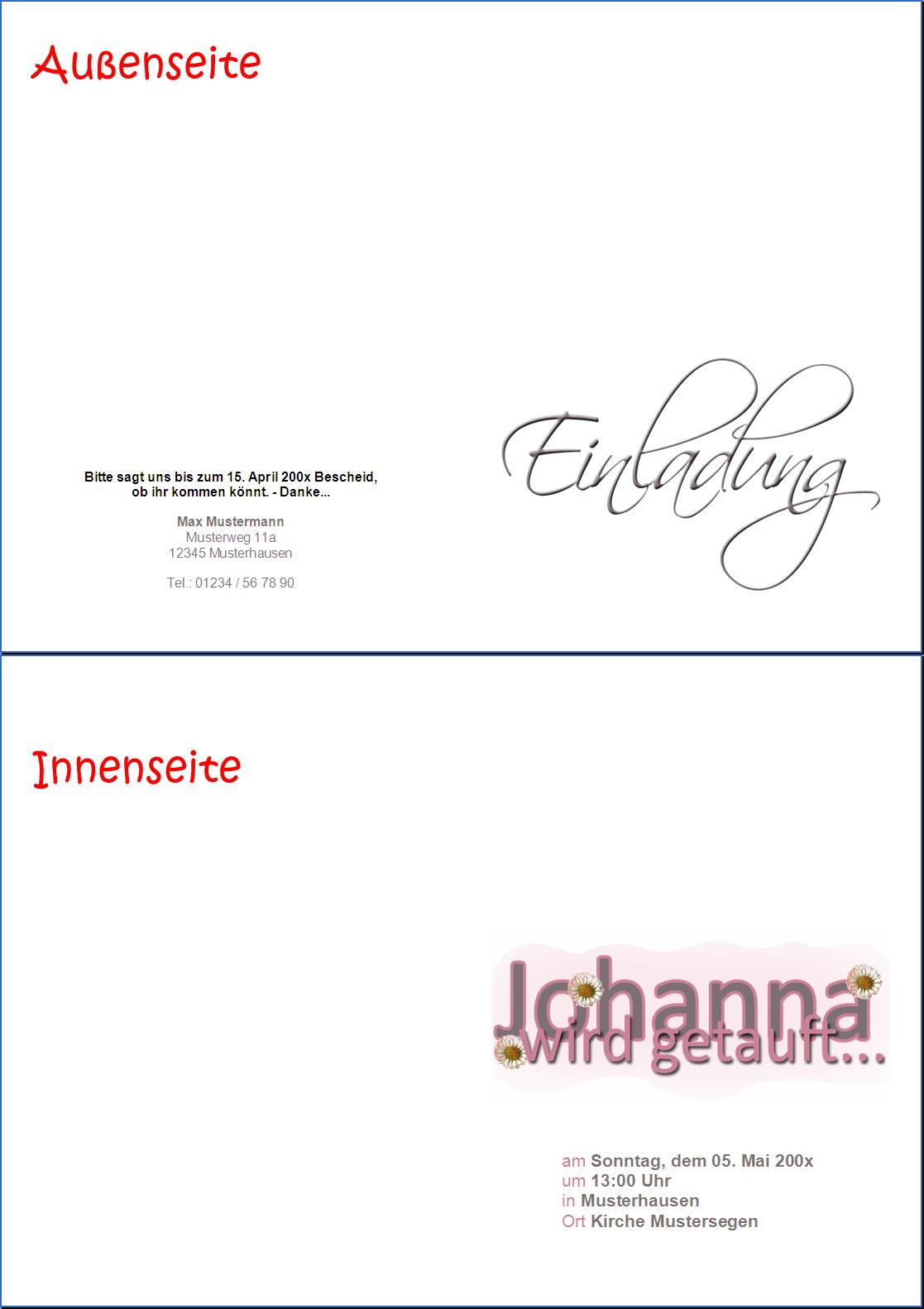 prawi-officewelt :|: produkte, Einladung